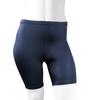 Plus Size Women's Classic Unpadded Compression Workout Short Navy Blue Front