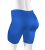 Plus Size Women's Classic Unpadded Compression Workout Short Royal Blue Back
