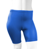 Plus Size Women's Classic Unpadded Compression Workout Short Royal Blue Front