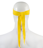 Aero Tech Headband Tie Sweatband Yellow Back View