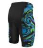 Aero Tech Men's PADDED Pro Blue Wave Wild Print Bike Shorts