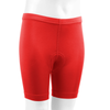 Youth padded Bike Shorts Red Front