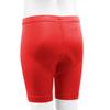 Youth padded Bike Shorts Red Back