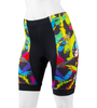 Women's Empress Shorts Print Bike Shorts Wild and Colorful Hide a Rider Design Front View