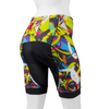 Women's Empress Shorts Print Bike Shorts Wild and Colorful Hide a Rider Design Back View
