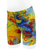 Youth Wild Print PADDED Cycle Short - Swirls of Bright Yellow for Children