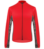 Aero Tech Men's Whistler Long Sleeve Fleece Cycling Jersey in Red