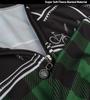 Aero Tech Long Sleeve Brushed Fleece Lumberjack Cycling Sprint Jersey Green Unzipped Relaxed Detail