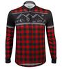 Aero Tech Long Sleeve Brushed Fleece Lumberjack Cycling Sprint Jersey Red Front View
