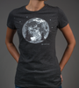 Women's Moon Bike Adventure T-Shirt Front in Action