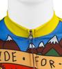Aero Tech BIG Men's Printed Ride for Infinity Sprint Cycling Jersey Front Zipper Detail