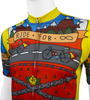 Aero Tech BIG Men's Printed Ride for Infinity Sprint Cycling Jersey Off Front Detail