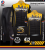 Men's Pittsburgh Theme Cycling Kit Panel