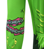 Aero Tech Halloween Long Sleeve Zombie Cycling Jersey Left Sleeve Detail