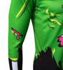 Aero Tech Halloween Long Sleeve Zombie Cycling Jersey Right Sleeve Detail