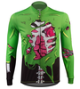 Aero Tech Halloween Long Sleeve Zombie Cycling Jersey Front View