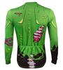 Aero Tech Halloween Long Sleeve Zombie Cycling Jersey Back View