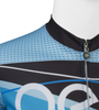 Aero Tech Tall Men's Long Sleeve Brushed Fleece Ice Detour Sprint Jersey Front Zipper View