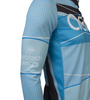 Aero Tech Tall Men's Long Sleeve Brushed Fleece Ice Detour Sprint Jersey Sleeve and Side Panel View