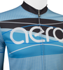 Aero Tech Tall Men's Long Sleeve Brushed Fleece Ice Detour Sprint Jersey Upper Front Zipper View