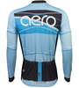 Aero Tech Tall Men's Long Sleeve Brushed Fleece Ice Detour Sprint Jersey Back View