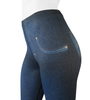 Women's Full Print Compression Jeggings Off Upper Front View