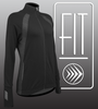 Women's FIT Long Sleeve Fitness Jacket Graphic Panel