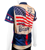 Women's Empress Made in the USA Patriot Cycling Jersey Off Back