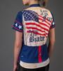 Aero Tech Women's Empress Patriot Cycling Jersey Back Model View