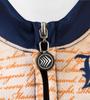 Aero Tech Women's Empress Patriot Cycling Jersey Zipper and Collar Detail