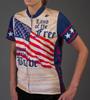 Aero Tech Women's Empress Patriot Cycling Jersey Front Model View