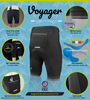 Aero Tech Men's Voyager Padded Cycling Shorts Features Panel