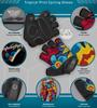 Aero Tech Tropical Print Cycling Gloves Features