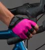 Aero Tech Pink Cycling Gloves Model View