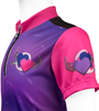 Children's Jersey Pink and Purple Flying Hearts Sleeve Detail