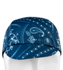 blue bandana biker hat