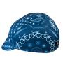 blue bandana bicycle theme cycling cap