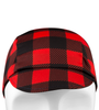 Red flannel plaid cycling cap