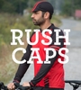 Aero Tech Rush Cycling Caps - Blue Topographical - Made in USA