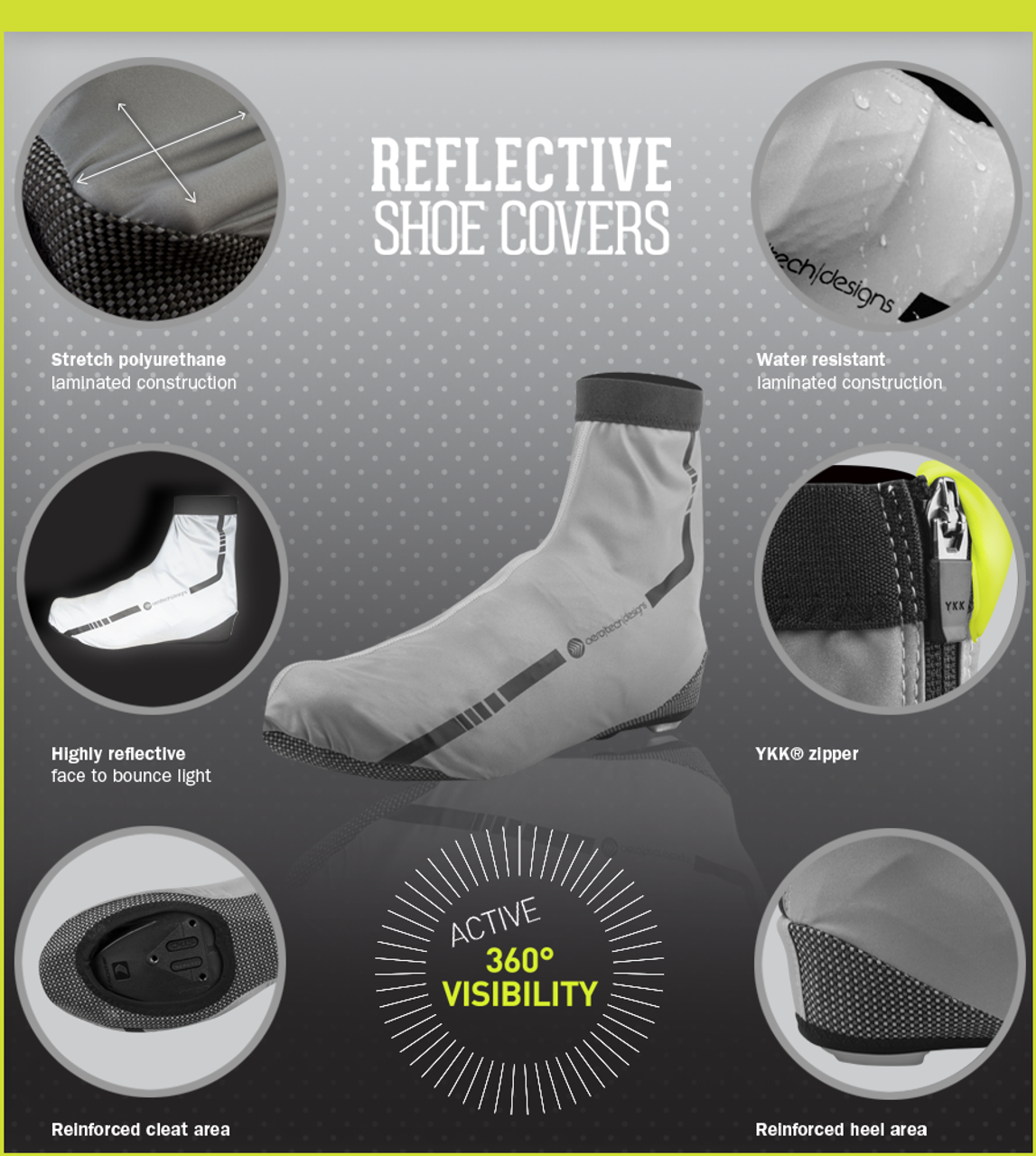 Aero Tech Reflective Cycling Shoe Cover