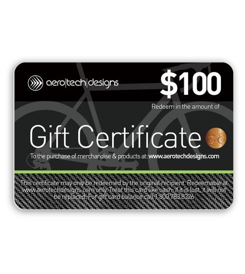 Aero Tech Designs Gift Certificate $100