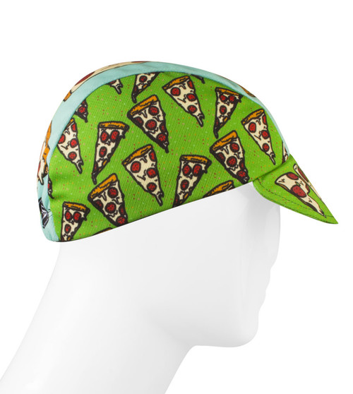 Aero Tech Rush Cycling Caps - Pizza Rulez bike hat - Made in USA