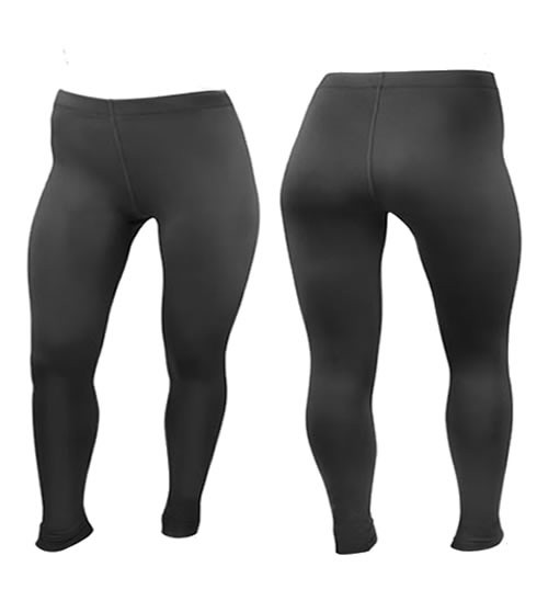Plus size thermal exercise tights