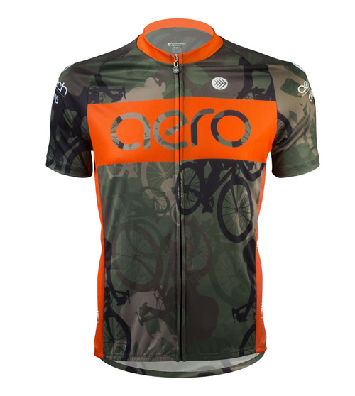 Aero Tech Men's Peloton Jersey - Woodlands Camo