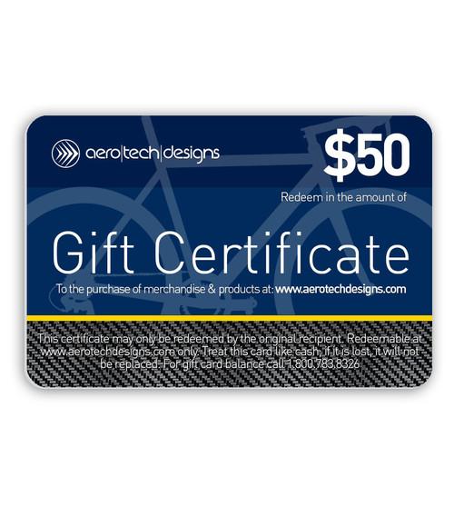Aero Tech Designs Gift Certificate $50