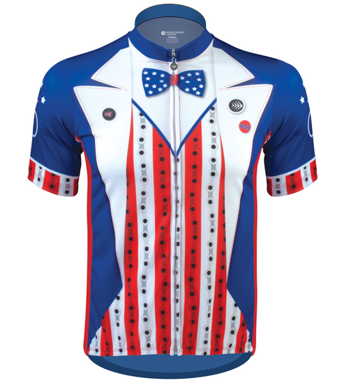 Aero Tech Uncle Sam Patriotic Cycling Jersey Made in USA Sprint Jersey Front