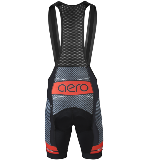 Men's Premiere Bib Shorts Advanced Carbon Red/Black with Elite Chamois Pad Back