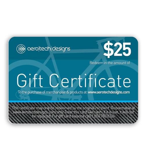 Aero Tech Designs Gift Certificate $25