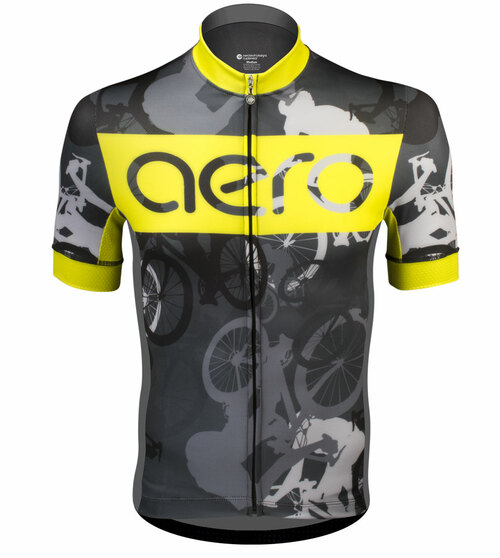 Aero Tech Men's Premiere Jersey - Urban Camouflage - Bike Racing Jersey