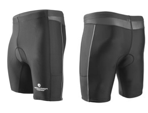 Aero Tech Men's Tri Shorts for Competitions and Training w thin fleece liner